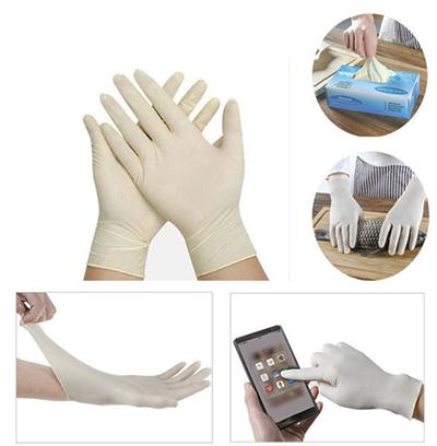 guantes de nitrilo blanco